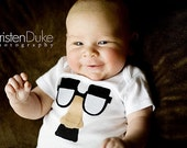 The Groucho Glasses - Funny Baby Shirt