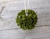 Mistletoe Kissing Ball - Wool Felt Holiday Decoration Small
