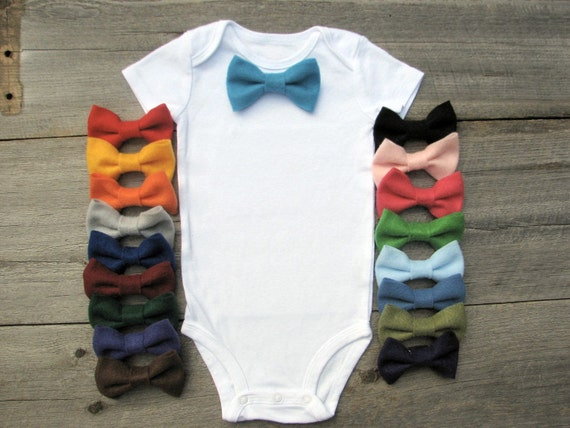 Baby Boy Clothes, Baby Bow Tie Onesie, Bowtie Onsie, Funny Baby Onesie, Ring Bearer Clothes, Customizable Wedding Colors, Onesie