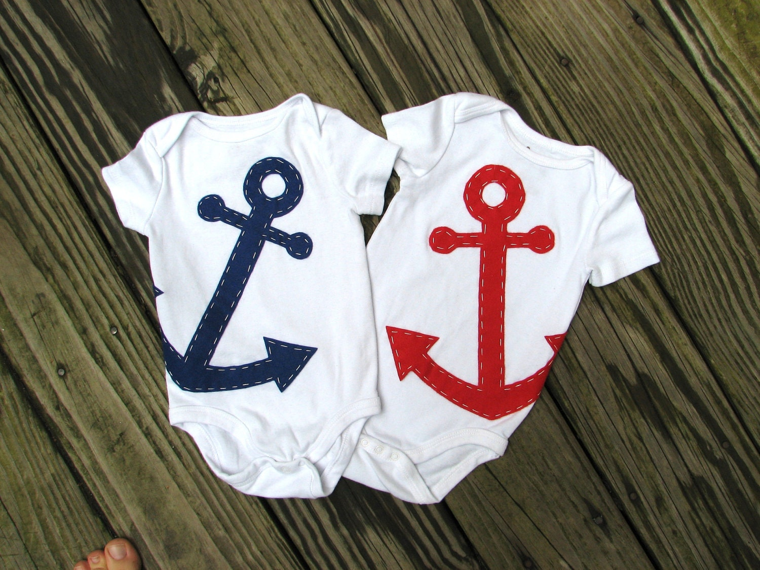 Anchor Baby Clothes Nautical Twin Baby esies