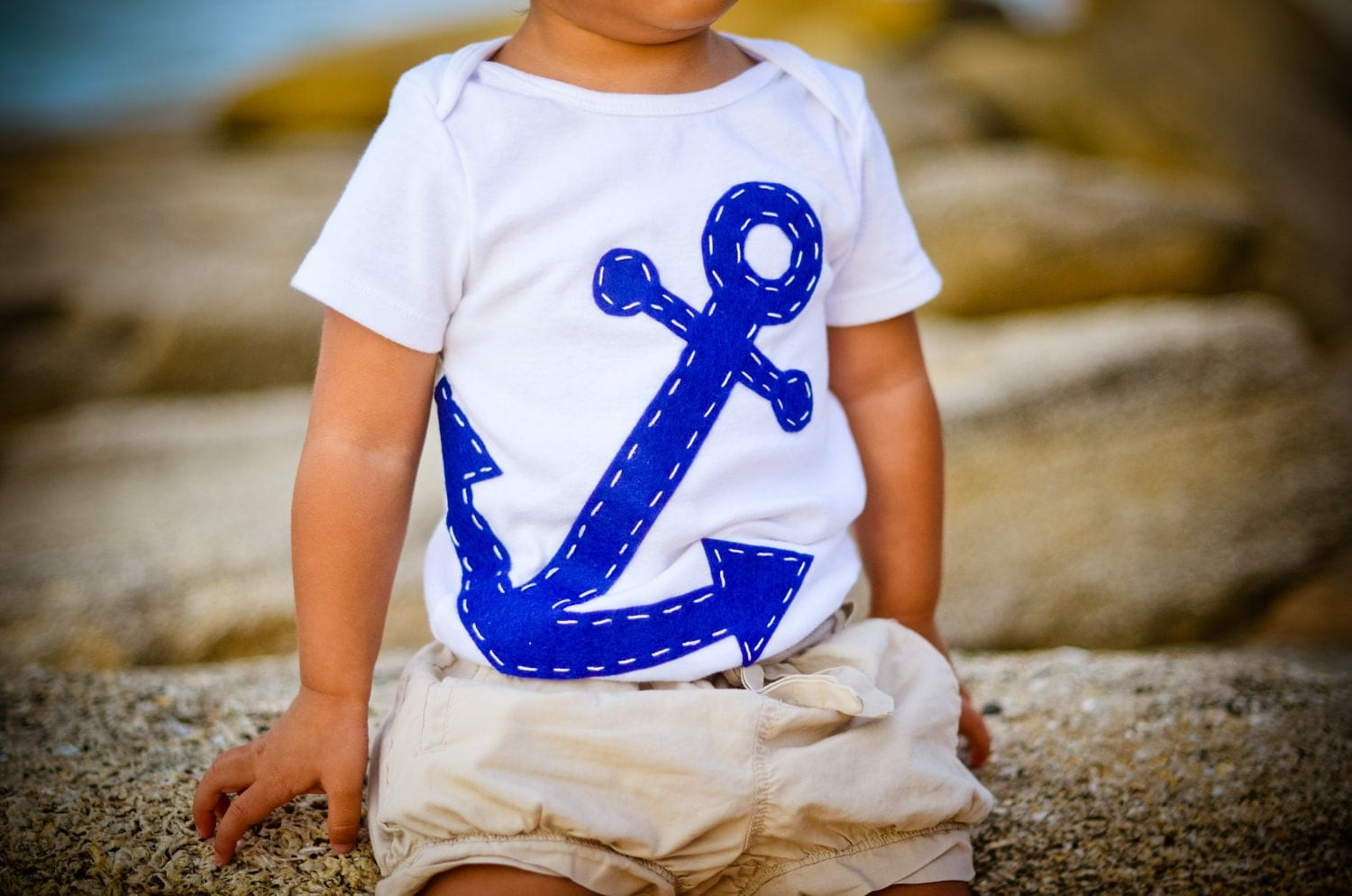 Baby Boy Clothes Navy Blue Anchor esie Natuical Baby Gift