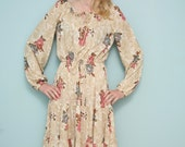 CLEARANCE SALE: Grunge Revival Floral Peasant Dress