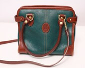 Green Pebbled Leather Purse - Dooney and Bourke Inspired