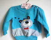 Kids Vintage Bow-Tie Bear Sweatshirt