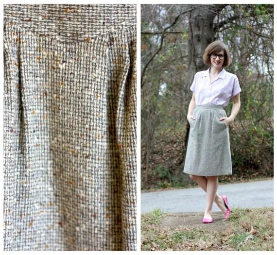 Vintage Tweed Skirt, Small/Petite