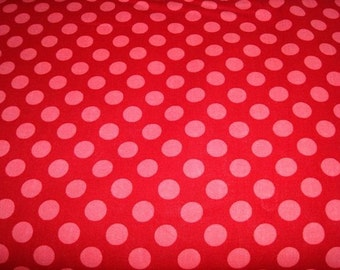 Ta Dots - Geranium by Michael Miller 1 yard