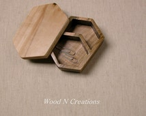 Jewelry Trinket Box - Six Sided Box with Two Compartments - Gift Idea
