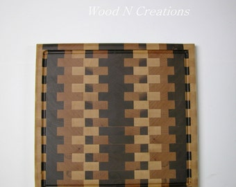 Cutting Board made with End Grain Hardwoods
