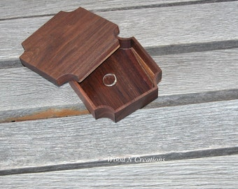 Jewelry Box -  Trinket Holder - Wooden Box with Cut Corners - Vanity Accessory - Home Decor - Office Accessory