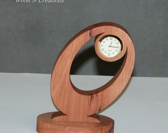Desk Clock - Home or Office Decor - Contemporary Look Clock