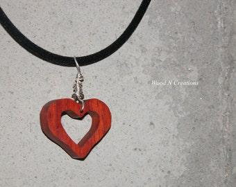Heart Shaped Pendant Necklace - Romantic Gift - Valentine - Love Symbol