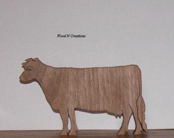 Cow Shaped Trivet or Home Decor for Kitchen - Wooden Trivet