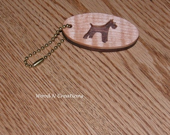 Terrier Pendant Key Chain - Dog Keychain