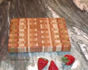 Endgrain Cutting Board Cheese or Sandwich Board