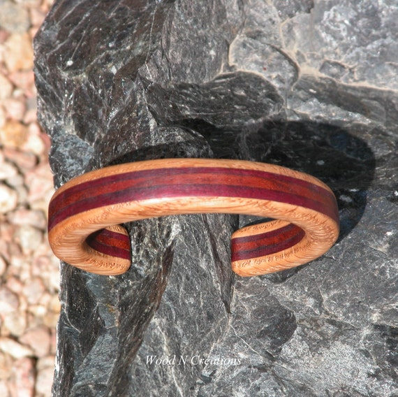 Bracelet with Five Layers of Hardwoods