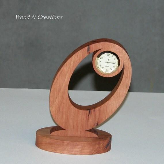 Desk Clock - Home or Office Decor - Contemporary Look Clock