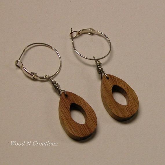 Earrings  - Dangle with a Droplet Shape