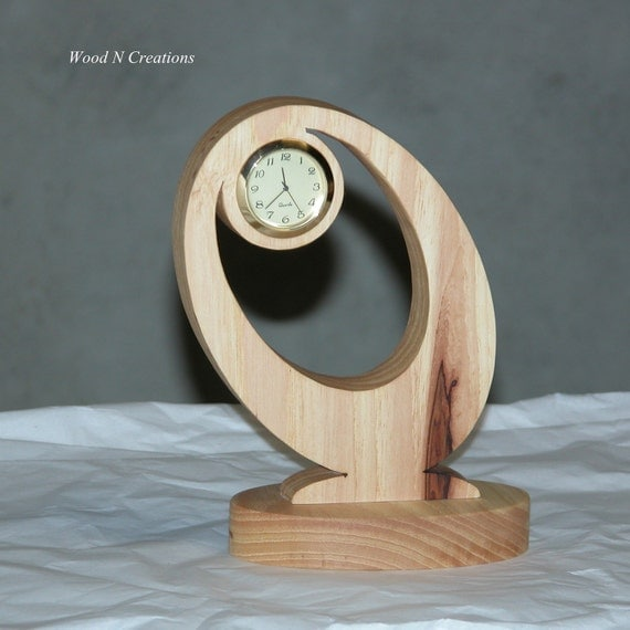 Desk Clock - Modern Design - Home or Office Decor - Wooden Desk Clock - Contemporary Design