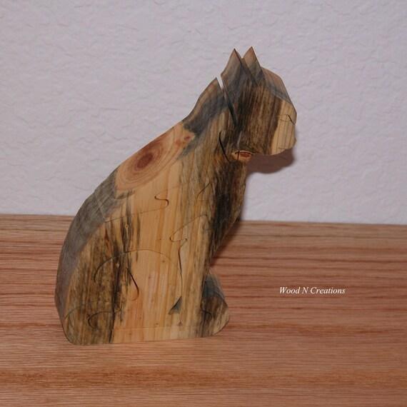 Cat Puzzle - Home Decor - Animal Puzzle -  Feline Office Decor
