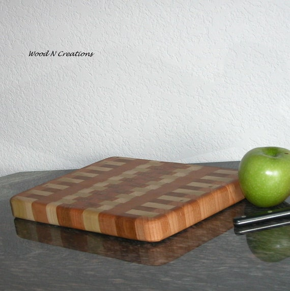 Wooden Cutting Board Cheese or Sandwich Board - Lighter Colored Pattern