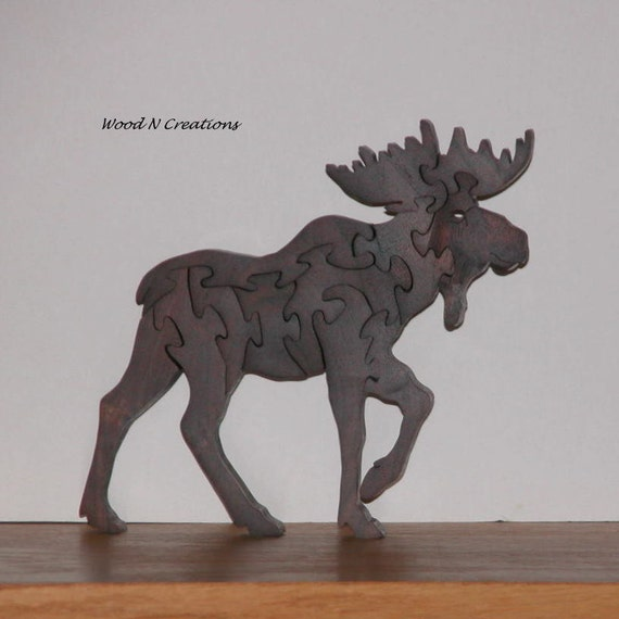 Home or Office Decor - Animal Puzzle - Moose Puzzle