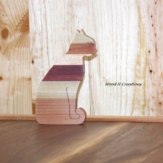 Cat with Stripes - Home Decor - Striped Cat  - Animal Theme - Feline Decor - Office Decor