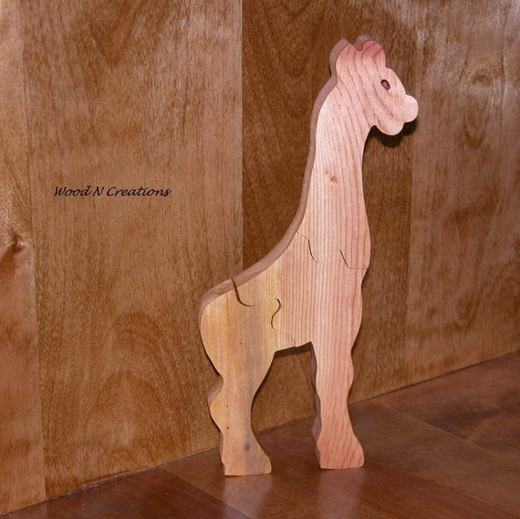 Child's Toy - Wooden Giraffe Puzzle for Child - Child's Decor