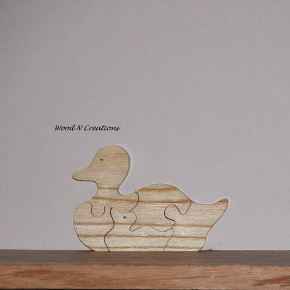 Toy Child's Puzzle or Animal Decor Duck