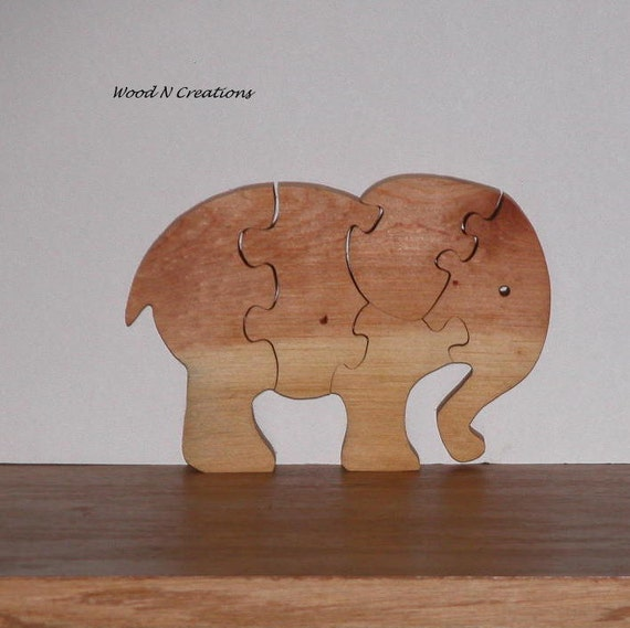 Wooden Elephant Puzzle for Child