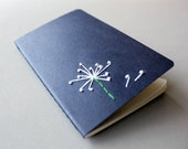 Pocket journal cahier notebook (Moleskine) - Embroidered Dandelion
