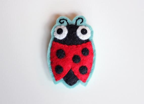Ladybug Felt Brooch Pin - Dot - Cute Accessories