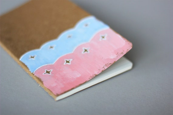 Hand Painted Pocket Journal Cahier Notebook (Moleskine) - Secret Keeper - Illustration