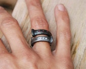 Wedding Band Steampunk Alternative Antique Barn Nail And Rubies Luxury Gift Idea Made To Order