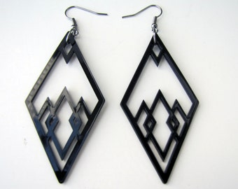 Black DIAMOND shape Earrings