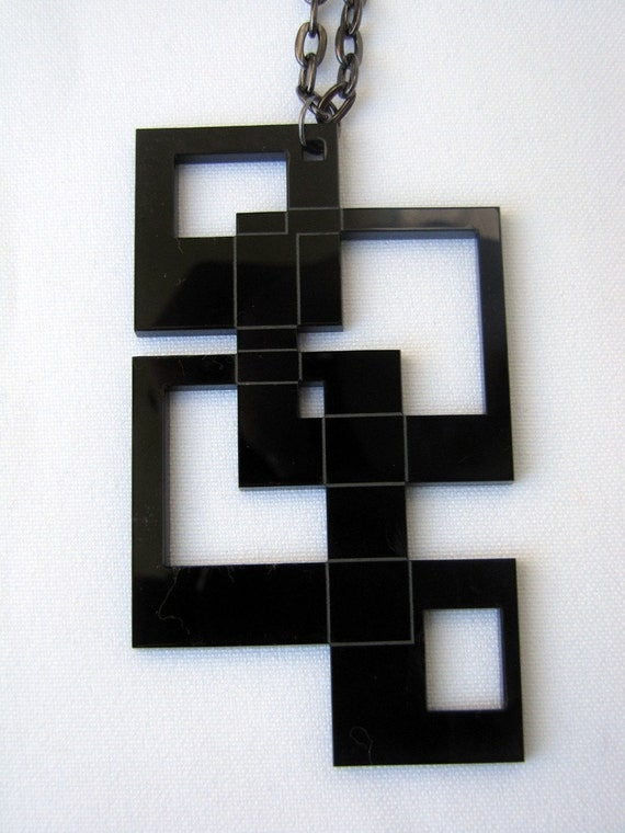 SQUARES Earrings and Necklace SET