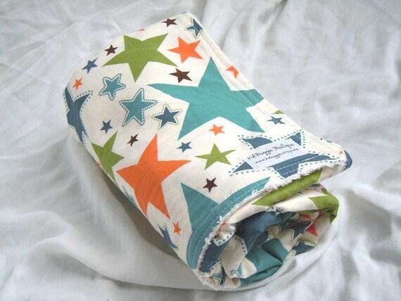 Mind's Eye Stars by Riley Blake Chenille Blanket - FREE Matching Burpy