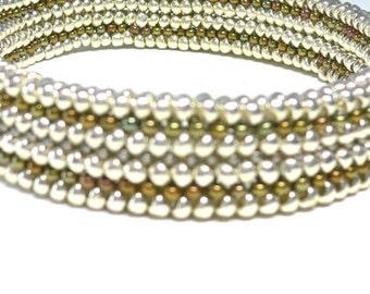 Herringbone bead weave Millicent's Mesh deco cuff bracelet: Instant Downloadable Pattern PDF File