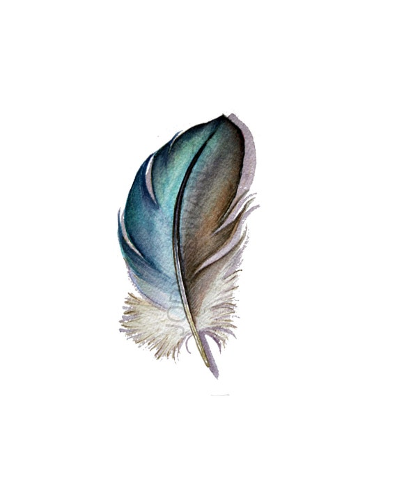 Mystery Feather - Original Watercolor - Nightly Study 315