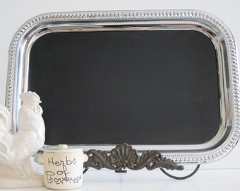 LARGE Chalkboard, Wedding, French Old World Chalkboard and Magneticboard comes with free piece of chalk and petite surprise