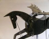 Black and Gold Pegasus Automata