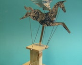 Blue and white Pegasus Automata