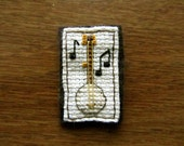Teeny Banjo X-Stitch Pin