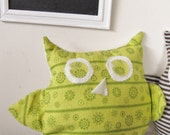 Oswald the Owl Stuffie - Green and Yellow Starburst