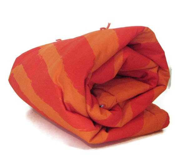 Marimekko modern baby Quilt Blanket Orange Crib So soft Sure to be a favorite