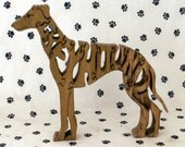 Greyhound Handmade Fretwork Wood Jigsaw Puzzle