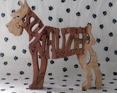 Schnauzer Handmade Fretwork Jigsaw Puzzle Wood Dog