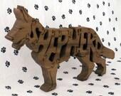 German Shepherd Handmade Fretwork Jigsaw Puzzle Wood Dog