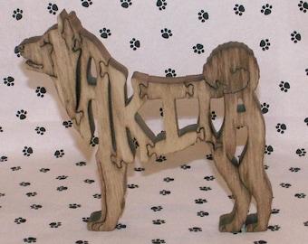 Akita Handmade Fretwork Jigsaw Puzzle Wood Dog