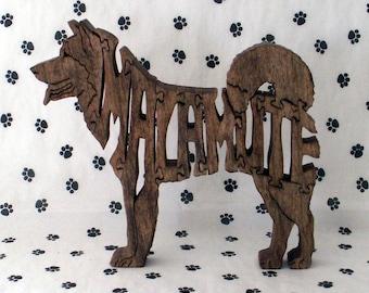 Malamute Handmade Wood Fretwork Jigsaw Puzzle by dogWoodbyDave on Etsy