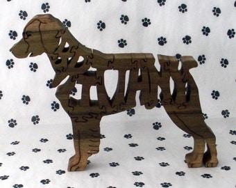 Brittany Spaniel Handmade Fretwork Jigsaw Puzzle Wood Dog
